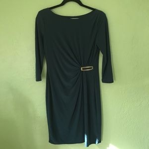 Evan Picone 3/4 Sleeve Fitted Dress